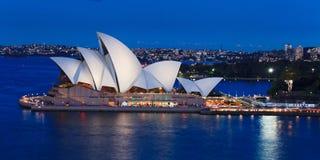 澳大利亚主要歌剧风帆 免版税库存照片