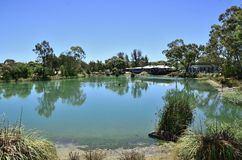 澳大利亚乡下池塘 免版税库存图片