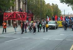 2017澳大利亚人劳动节集会 库存照片