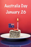 澳大利亚假日庆祝的澳洲天, 1月26日。 库存照片