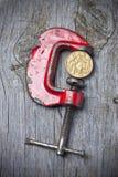 澳大利亚元压力价值 免版税库存图片