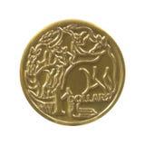 澳大利亚元硬币 图库摄影
