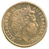 2澳大利亚元硬币 库存照片