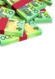 澳大利亚元笔记疏散堆 免版税库存照片