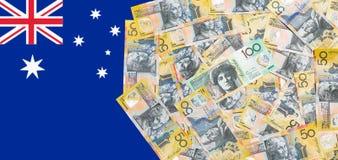 澳大利亚元笔记 免版税库存照片