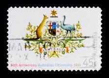 澳大利亚公民身份,澳大利亚天serie,大约1999年 免版税库存图片