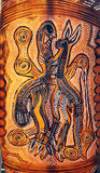 澳大利亚原史当地艺术 免版税库存照片