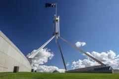 澳大利亚国家议会在堪培拉安置 免版税图库摄影