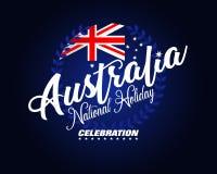 澳大利亚国庆节的庆祝 向量例证