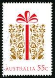澳大利亚圣诞节邮票 免版税库存图片