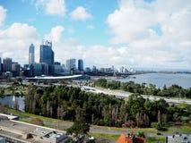 澳大利亚城市国王公园珀斯地平线视图 免版税库存图片