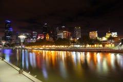 澳大利亚墨尔本夜 库存图片