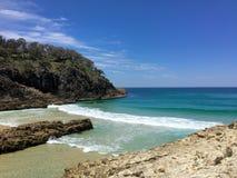 澳大利亚夏天海滩 免版税库存图片