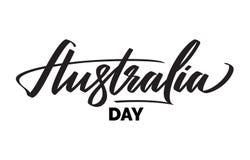 澳大利亚天印刷术,字法 词艺术刷子文本国名传染媒介设计对于澳大利亚 库存照片