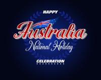 澳大利亚天,假日的庆祝 皇族释放例证