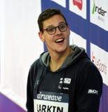 澳大利亚奥林匹亚、世界冠军和纪录创造者米歇尔LARKIN AUS 库存图片