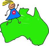 澳大利亚孩子 免版税库存图片