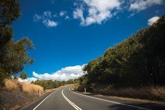 澳大利亚山高速公路 免版税库存照片