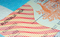 澳大利亚常驻移民签证 库存照片