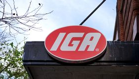 澳大利亚或IGA的独立菜市场是小独立超级市场网络,例如位于悉尼的这家商店CBD 库存图片