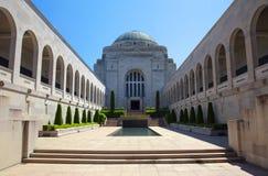 澳大利亚战争纪念建筑在堪培拉 免版税库存照片