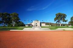 澳大利亚战争纪念建筑在堪培拉 库存图片