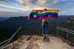 澳大利亚投了赞成票在平等婚姻右边 图库摄影