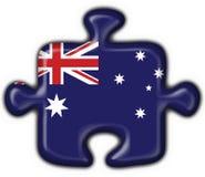 澳大利亚按钮重点难题 免版税库存照片