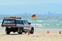 澳大利亚救生员在英属黄金海岸昆士兰澳大利亚 免版税库存图片