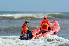 澳大利亚救生员在英属黄金海岸昆士兰澳大利亚 免版税库存照片