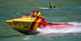 澳大利亚救生员在英属黄金海岸昆士兰澳大利亚 库存照片