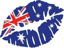 澳大利亚旗子亲吻 向量例证
