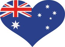 澳大利亚旗子心脏 向量例证