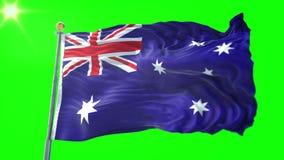澳大利亚旗子无缝的使成环的3D翻译录影 美好纺织品布料织品圈挥动 库存例证