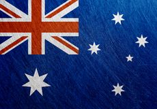 澳大利亚旗子金属葡萄酒,减速火箭, 免版税图库摄影