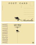 澳大利亚明信片 向量例证
