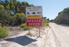 澳大利亚本质符号警告野生生物 免版税库存图片