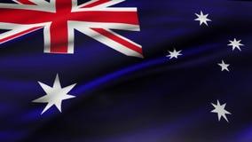 澳大利亚沙文主义情绪在风慢动作动画 r 库存例证