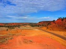 澳大利亚沙漠场面 免版税库存图片