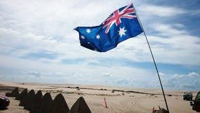 澳大利亚沙漠视图 免版税库存图片