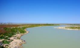 澳大利亚沙漠绿洲 免版税库存图片
