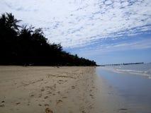 澳大利亚海岸一个美丽的海滩  免版税图库摄影