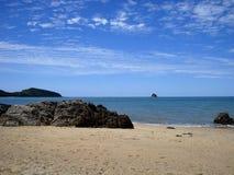 澳大利亚海岸一个美丽的海滩  免版税库存照片
