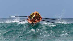 澳大利亚海浪划船者同盟竞争 库存图片