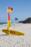 澳大利亚海滩抢救海浪 库存照片