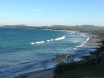 澳大利亚海滩场面 免版税图库摄影