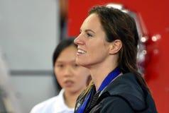 澳大利亚游泳者埃米莉・西博姆AUS 图库摄影