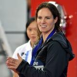 澳大利亚游泳者埃米莉・西博姆AUS 库存照片