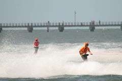 澳大利亚滑水橇赛跑 免版税库存照片