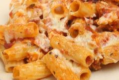 澳大利亚烘烤焦干酪意大利面食 免版税库存照片